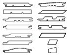 Profiles of facade boards
