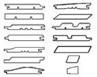 Profiles of facade boards